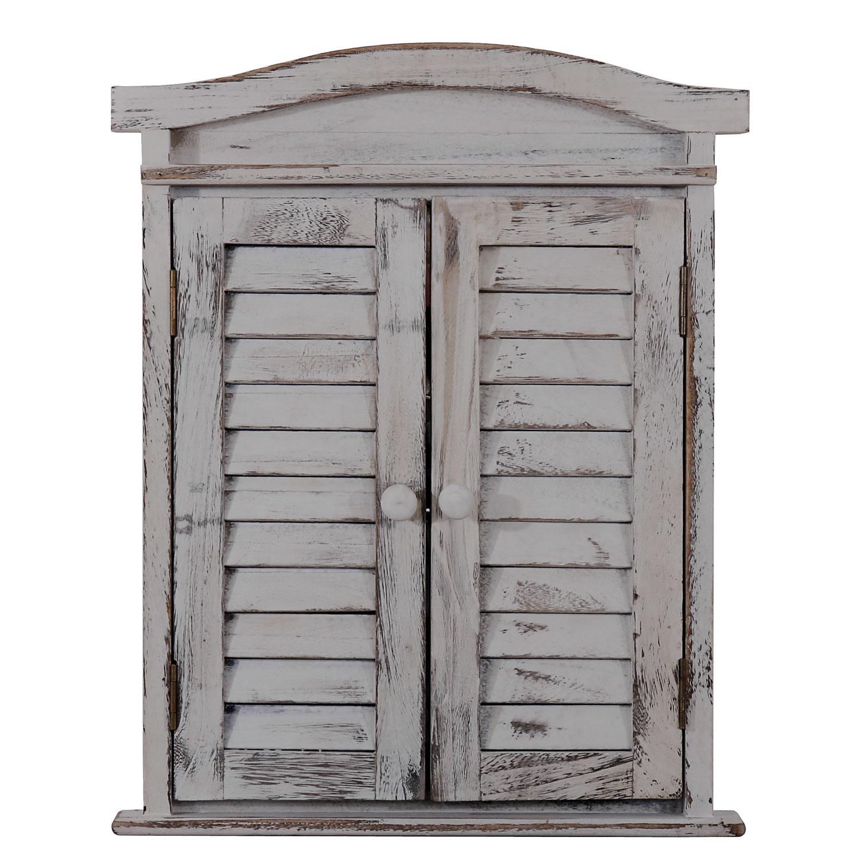 Spiegelfenster Mit Fensterläden Shabby Chic ~ Grau