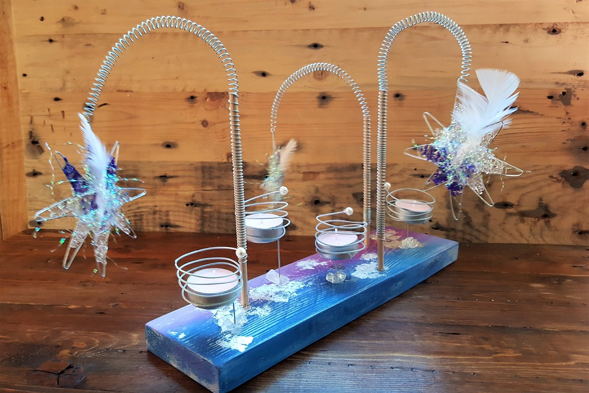 Kerzenhalter Kerzenstander Tischdeko Krone Handmade By Tretschy