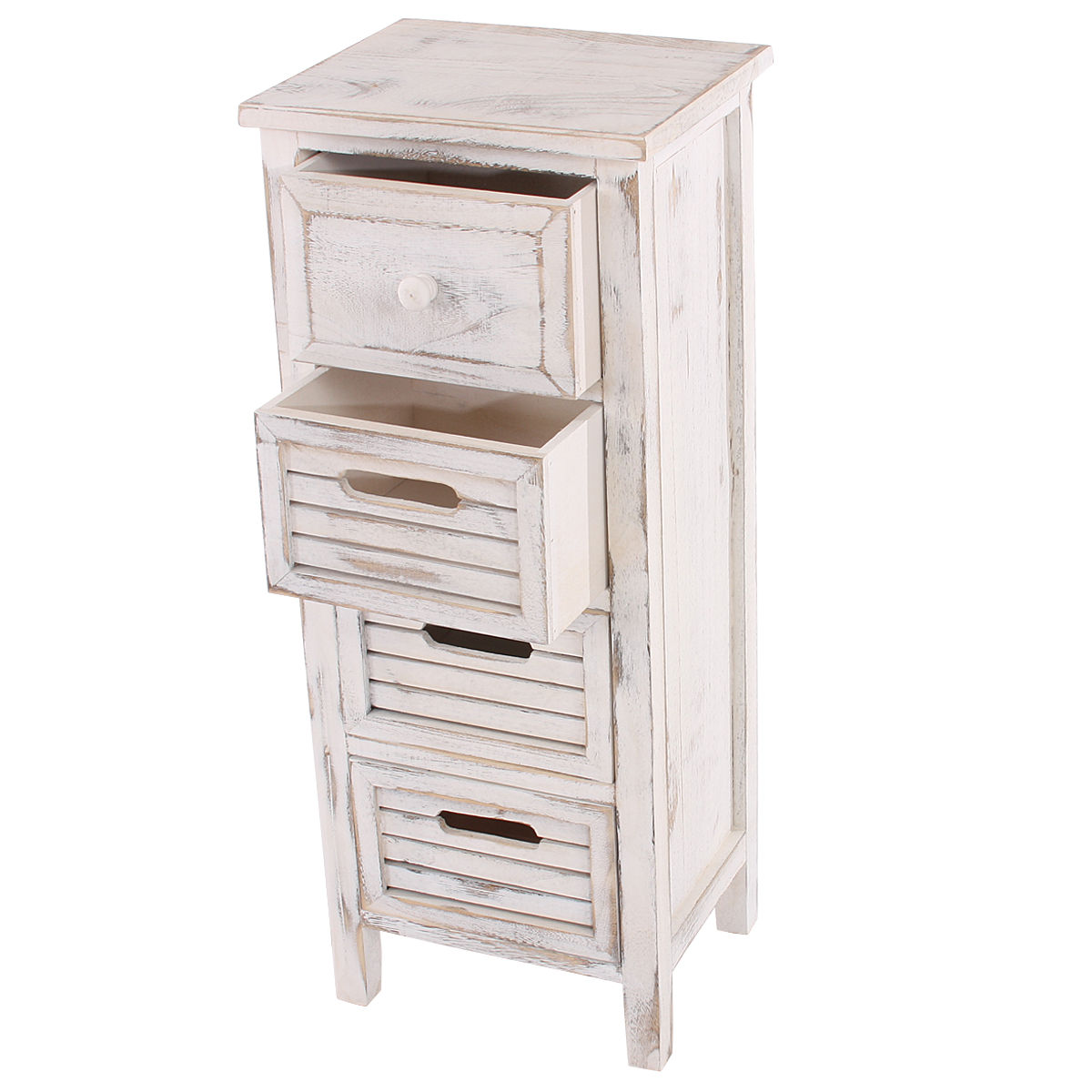 shaby chic kommode 74x30x25cm vintage weiss. Black Bedroom Furniture Sets. Home Design Ideas