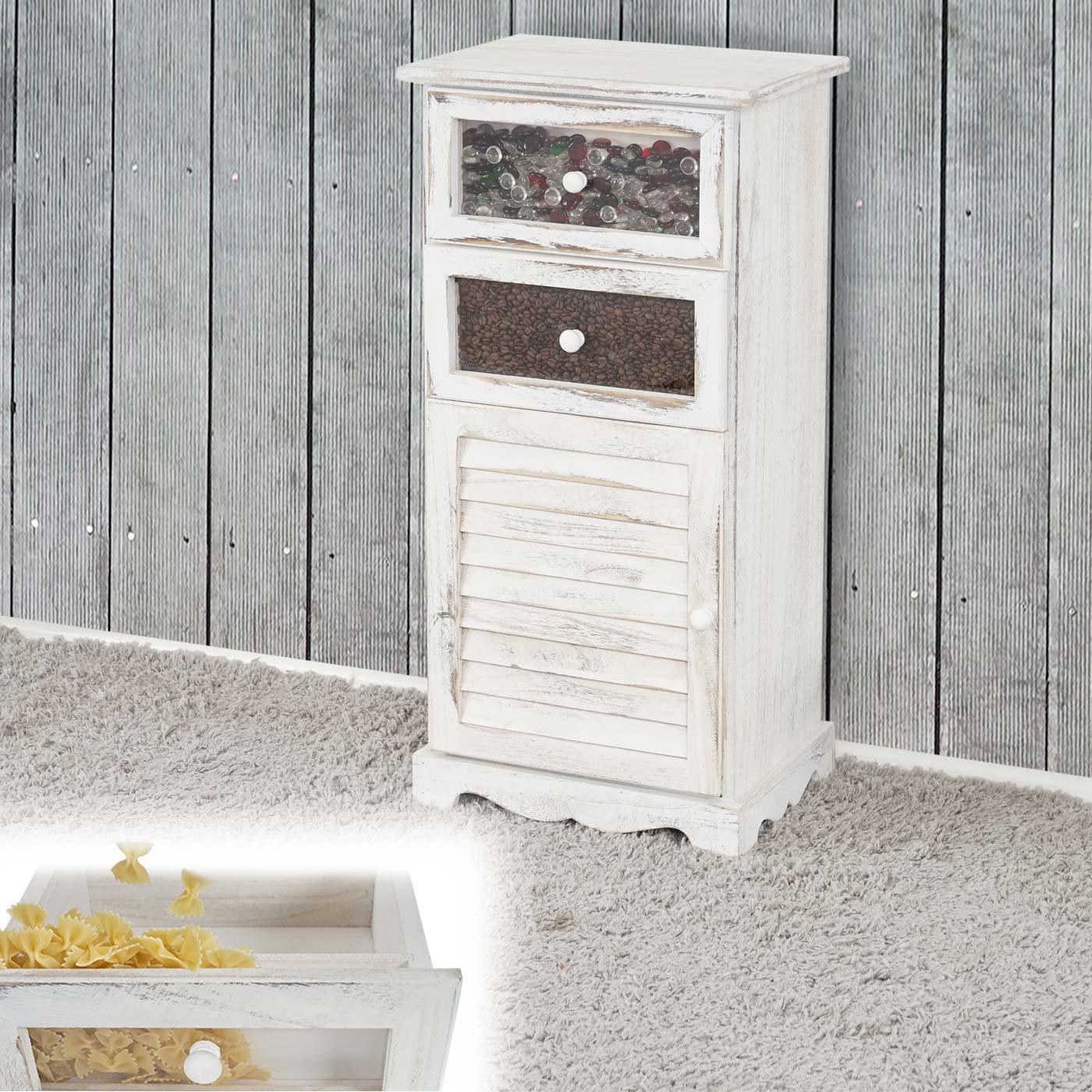 kommode asti vintage 80x72x33cm weiss. Black Bedroom Furniture Sets. Home Design Ideas