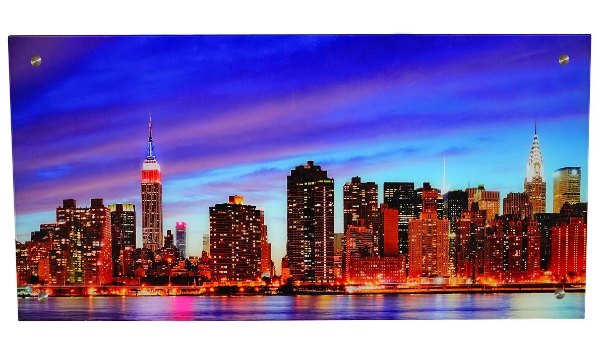 glasbild t115 poster motiv 50x100cm new york. Black Bedroom Furniture Sets. Home Design Ideas