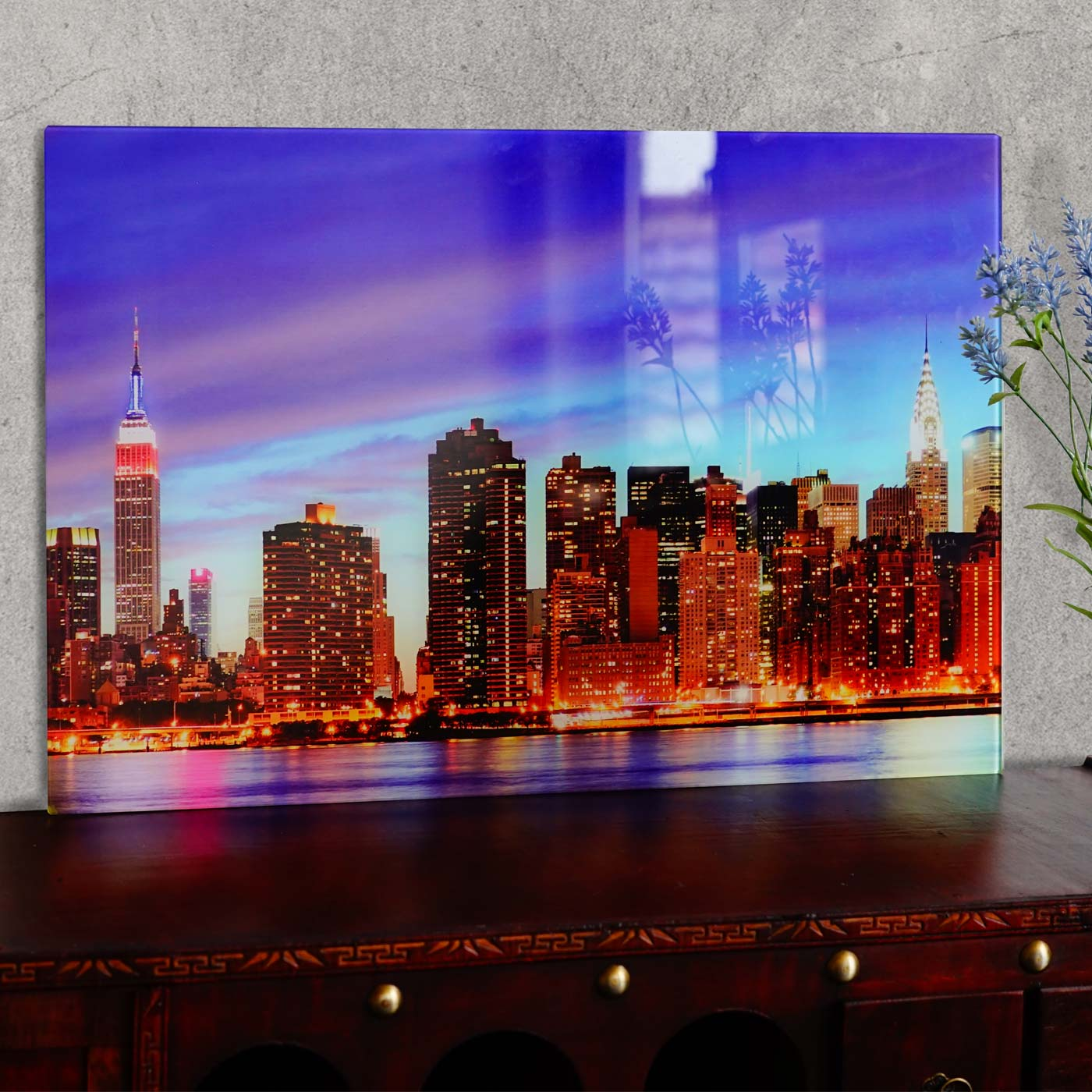 glasbild t116 poster motiv 40x60cm new york. Black Bedroom Furniture Sets. Home Design Ideas