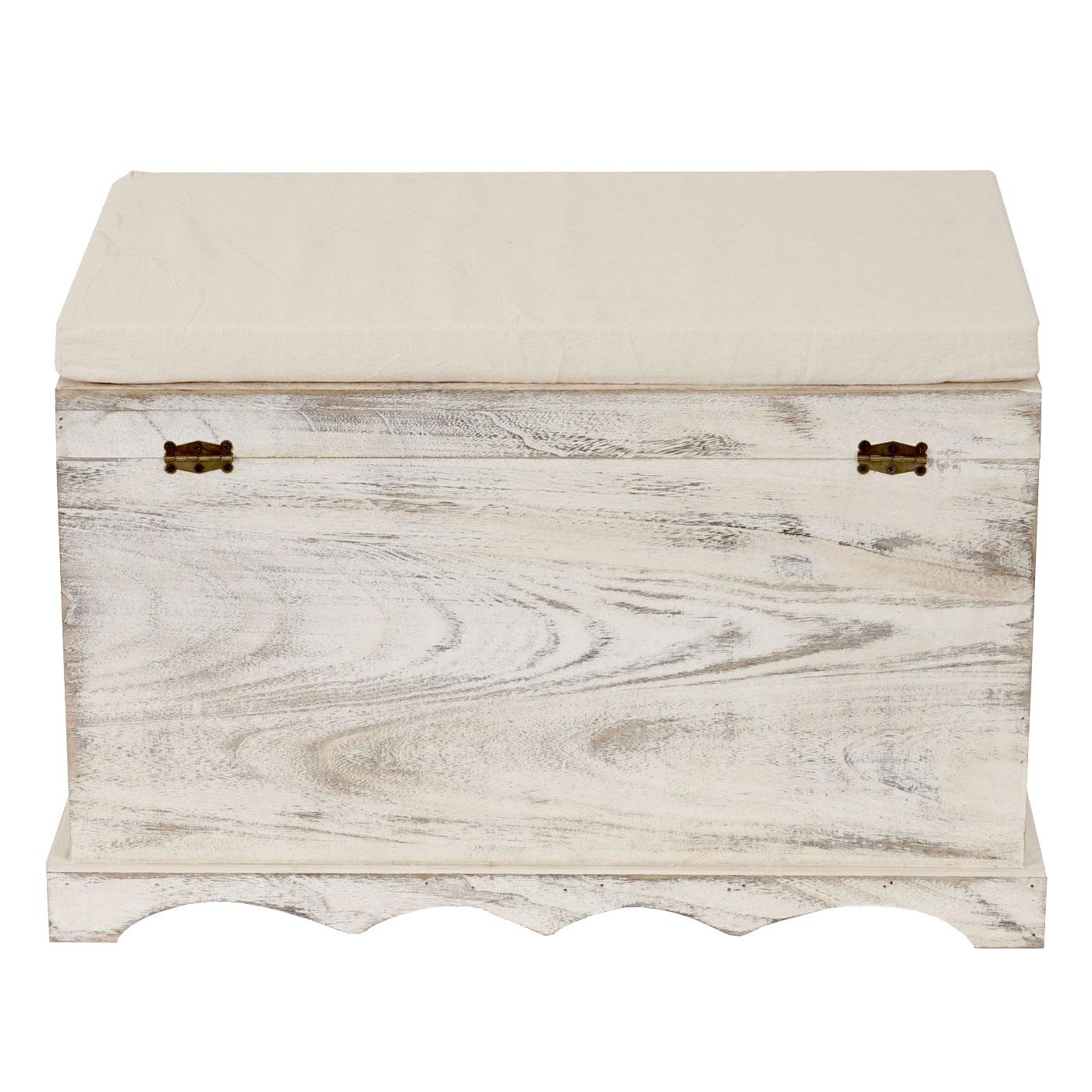 holztruhe aufbewahrungstruhe shabby 50x76x45cm weiss. Black Bedroom Furniture Sets. Home Design Ideas