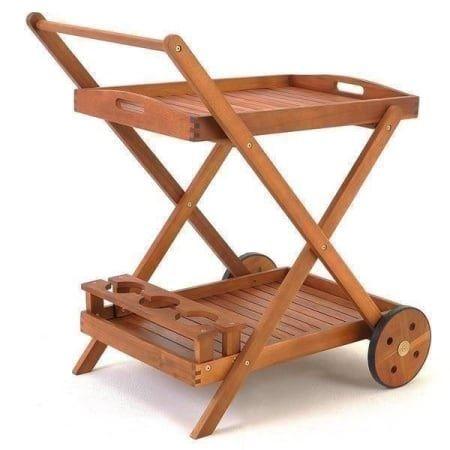 servierwagen aus akazienholz. Black Bedroom Furniture Sets. Home Design Ideas
