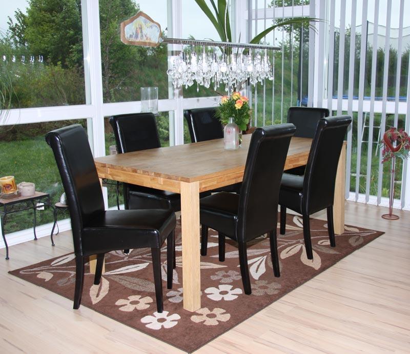 2x esszimmerstuhl novara ii leder schwarz dunkle beine. Black Bedroom Furniture Sets. Home Design Ideas