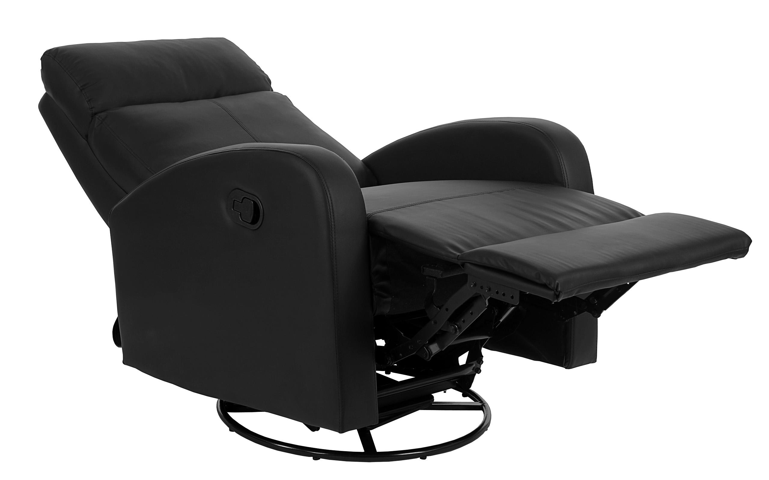 fernsehsessel hwc premium drehbar mit wippfunktion schwarz. Black Bedroom Furniture Sets. Home Design Ideas
