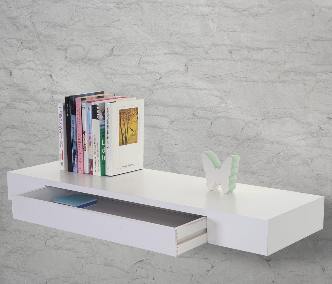 wandregal oise regal 80cm schublade weiss. Black Bedroom Furniture Sets. Home Design Ideas