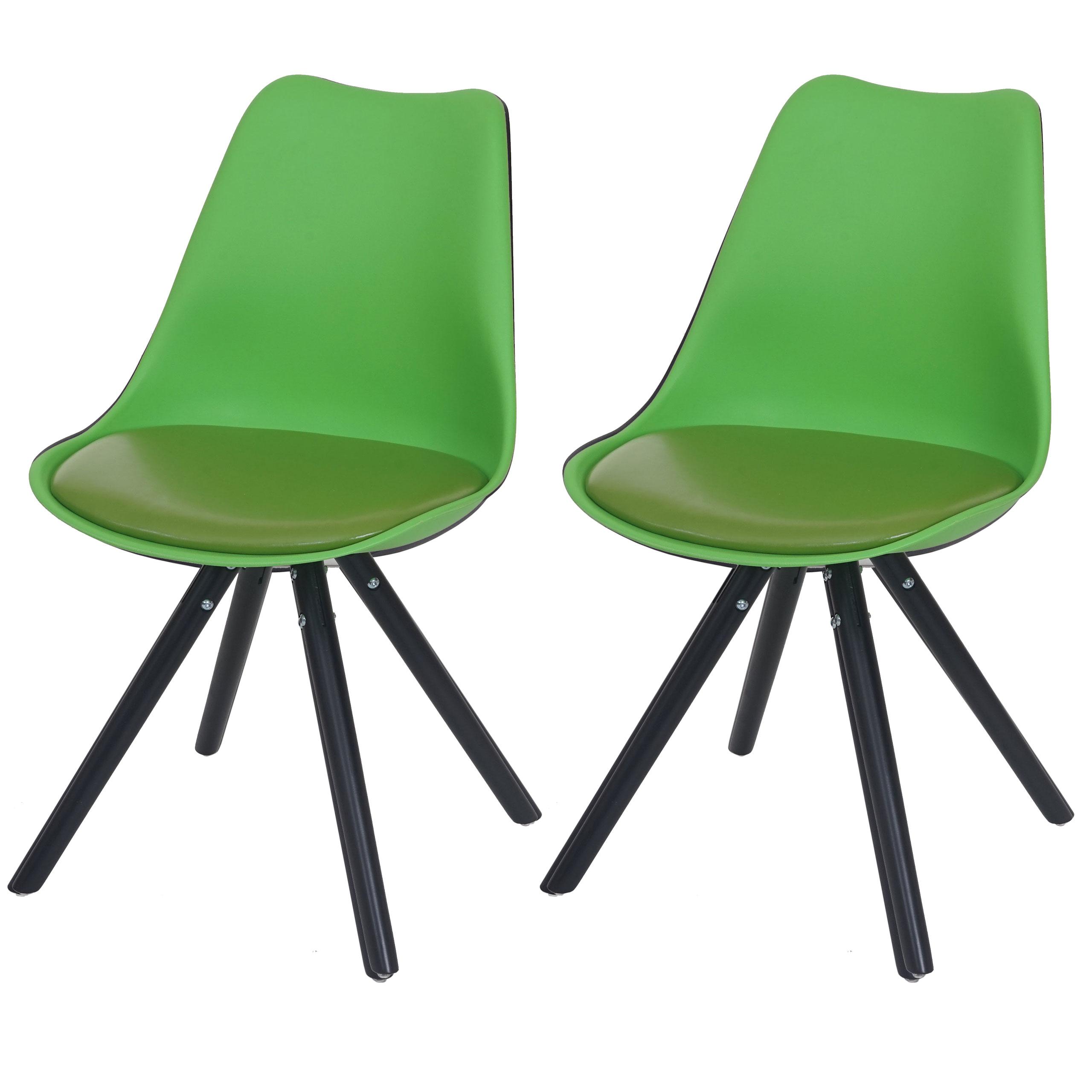 2x esszimmerstuhl malm retro design kunstleder gr n dunkle beine. Black Bedroom Furniture Sets. Home Design Ideas