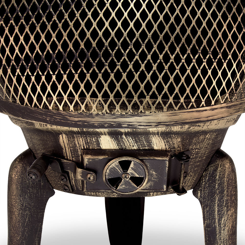 terrassenofen feuerstelle aus gusseisen 112cm hoch. Black Bedroom Furniture Sets. Home Design Ideas