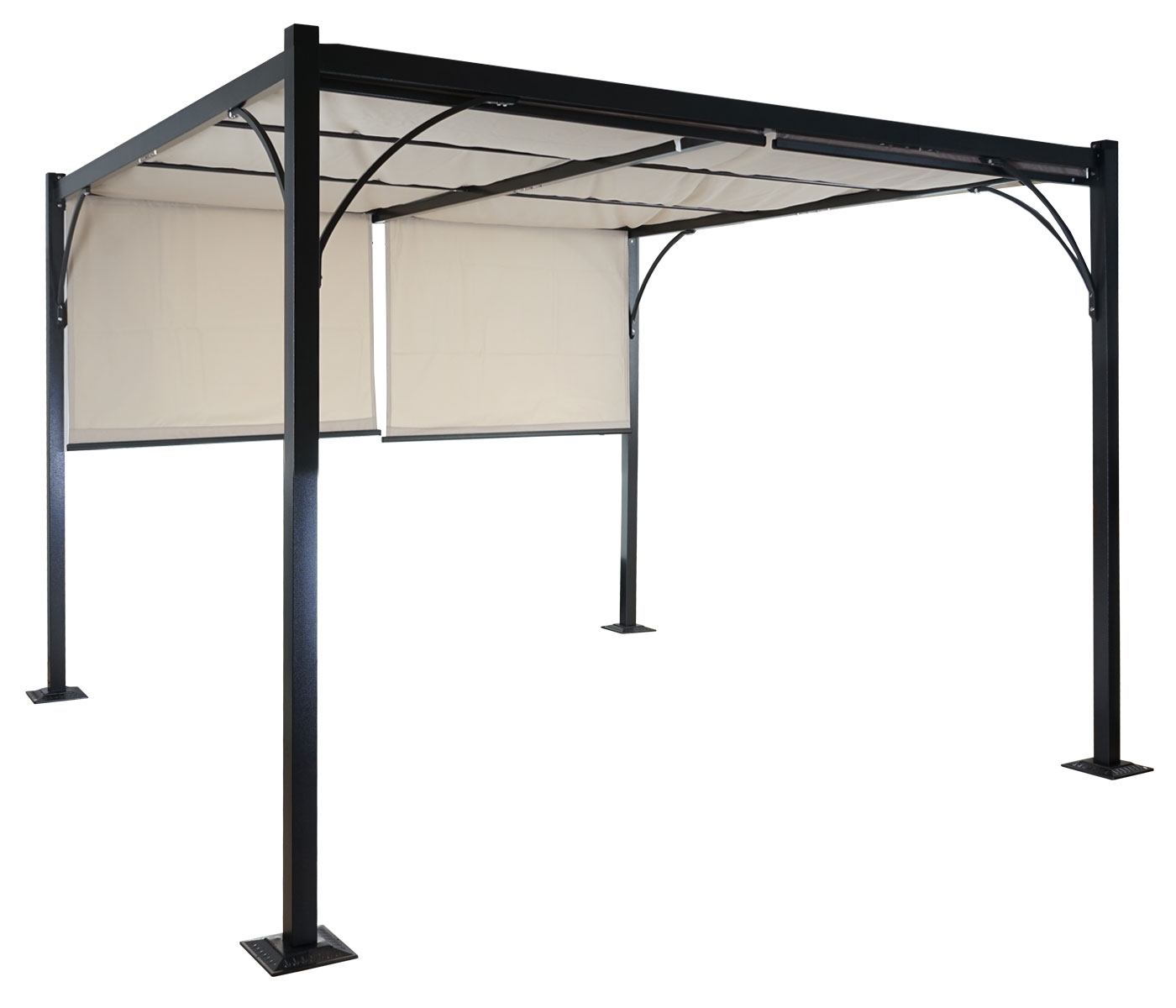 pergola granada alu garten pavillon 3x3m. Black Bedroom Furniture Sets. Home Design Ideas