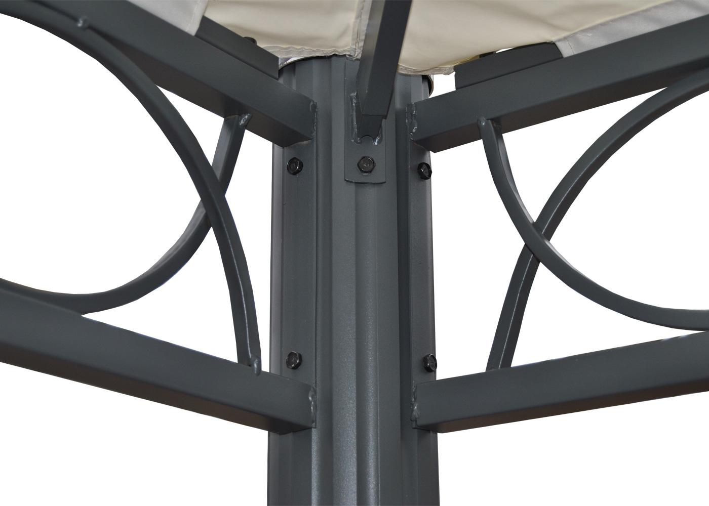 pergola belagua 3x3m garten pavillon stabiles alu gestell. Black Bedroom Furniture Sets. Home Design Ideas