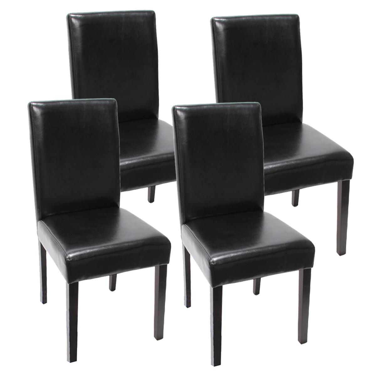 Gewaltig Esstisch Stühle Schwarz Ideen Von 4x Esszimmerstuhl Littau ~ Kunstleder Dunkle Beine