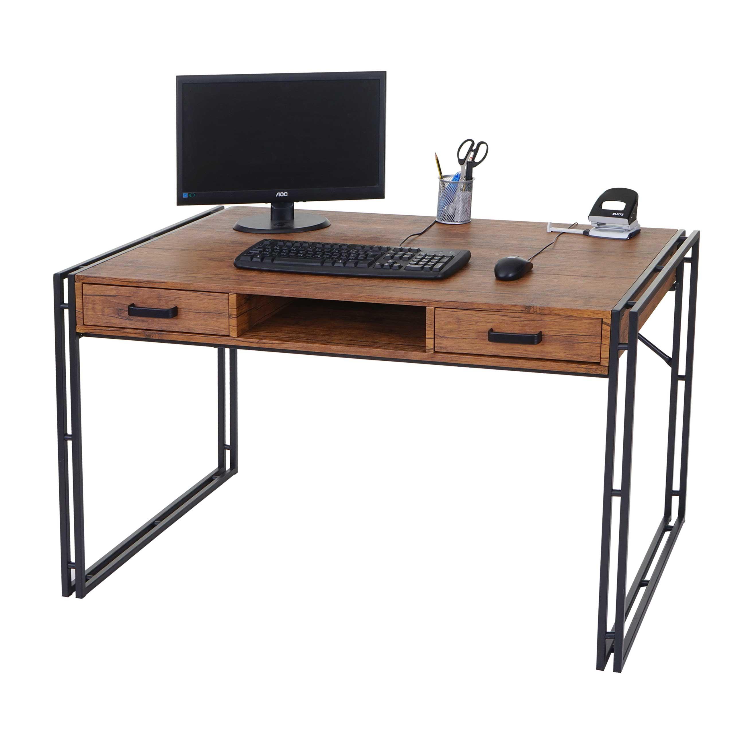 Schreibtisch Hwc Bürotisch 121x70cm Wildeiche Optik Jambch