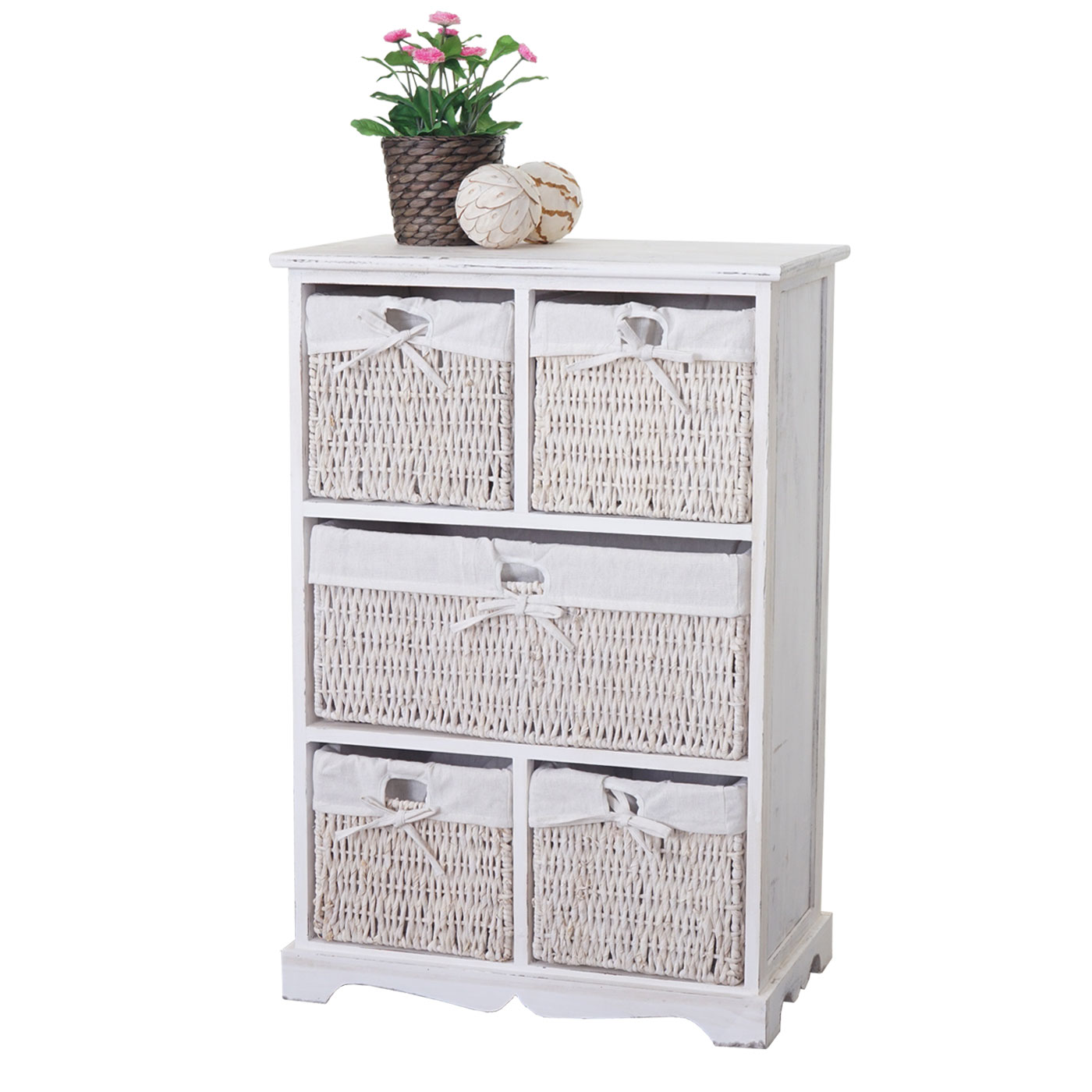 kommode dundee shabby look 90x60x30cm weiss. Black Bedroom Furniture Sets. Home Design Ideas