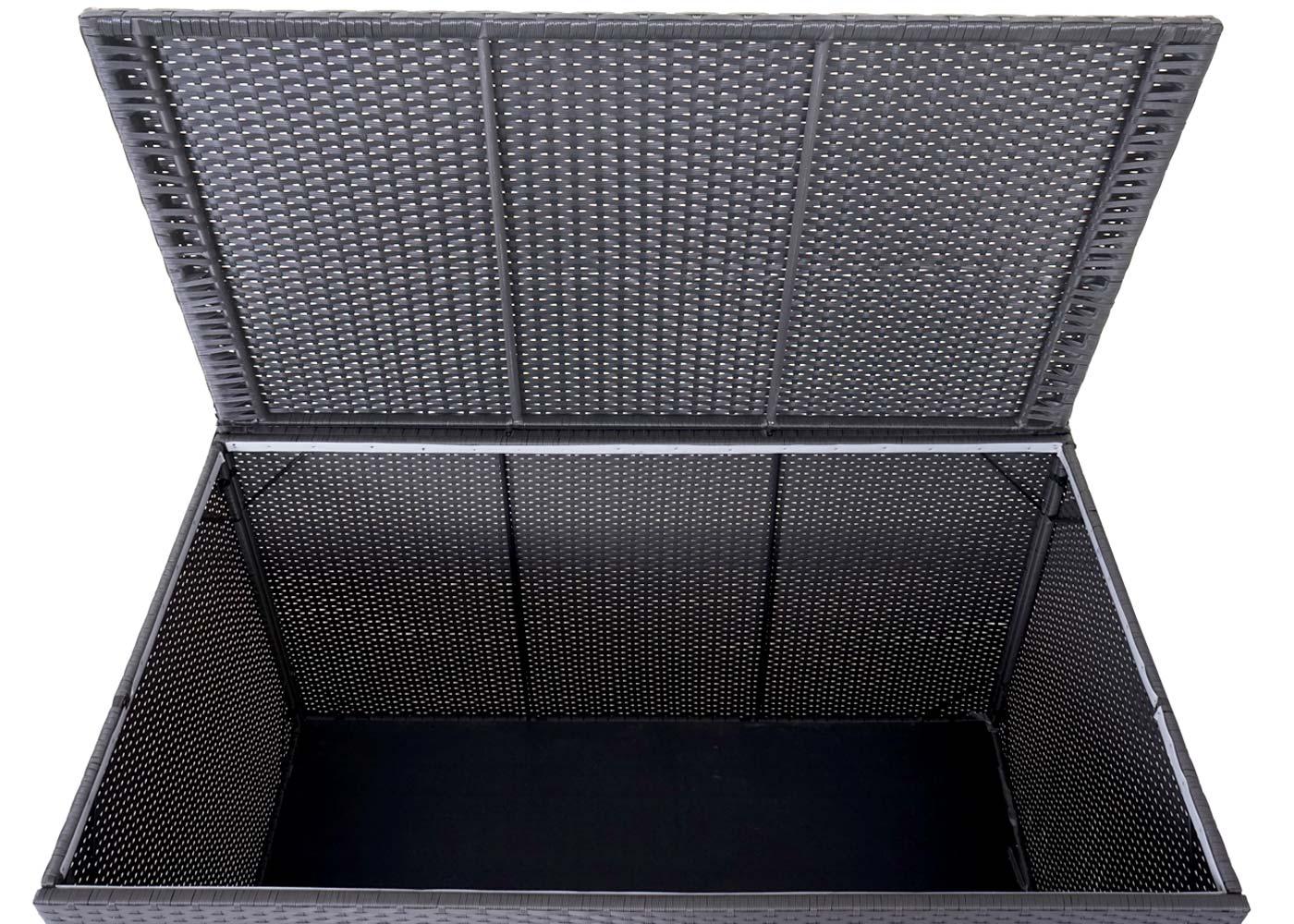 Fabulous XXL Rattan Kissenbox Barry 920l Auflagenbox Gartenbox ~ grau - jamb.ch IB62