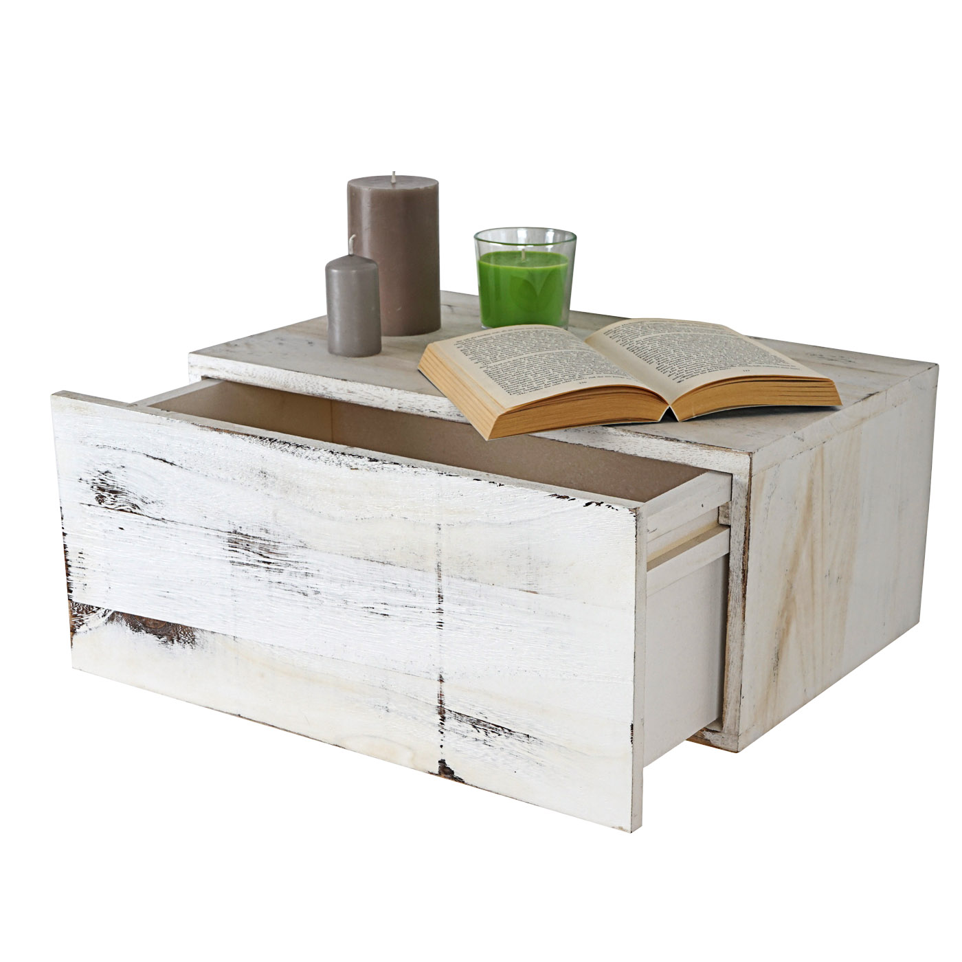 shabby chic wandregal dinant 21x46x30cm weiss. Black Bedroom Furniture Sets. Home Design Ideas