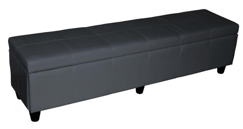 sitzbank kriens xxl leder grau. Black Bedroom Furniture Sets. Home Design Ideas