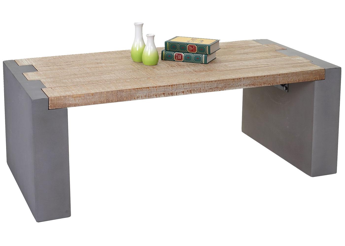 couchtisch beton optik tanne holz rustikal. Black Bedroom Furniture Sets. Home Design Ideas