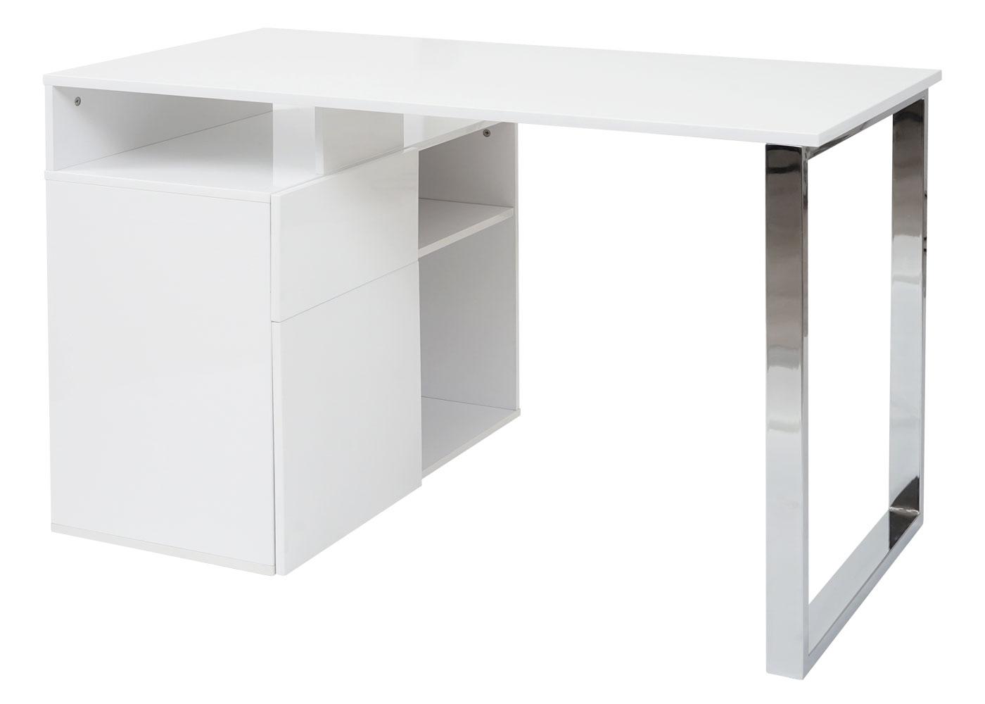eckschreibtisch b rotisch hwc hochglanz weiss 120x60cm. Black Bedroom Furniture Sets. Home Design Ideas