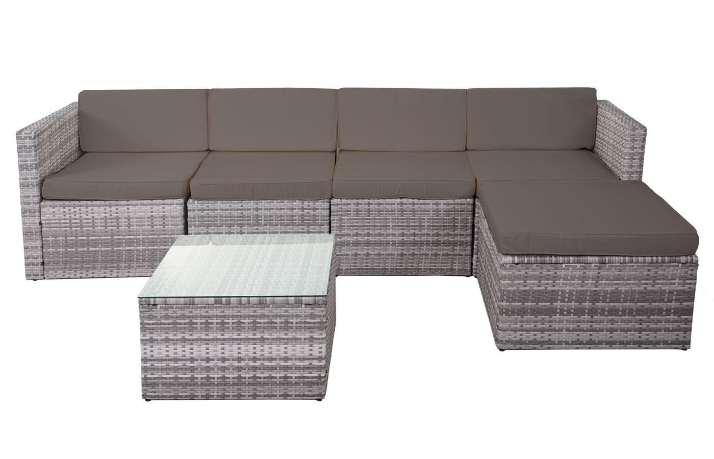 rattan lounge sunshine garten sitzgruppe anthrazit. Black Bedroom Furniture Sets. Home Design Ideas