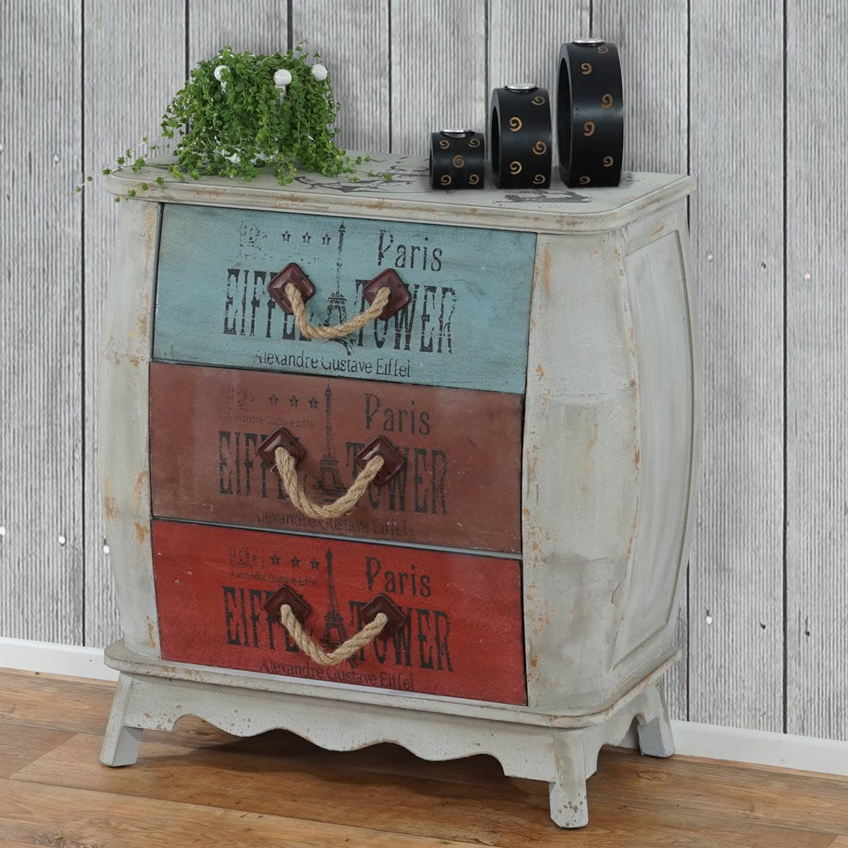 shabby chic vintage kommode leiria 74x70x36cm. Black Bedroom Furniture Sets. Home Design Ideas
