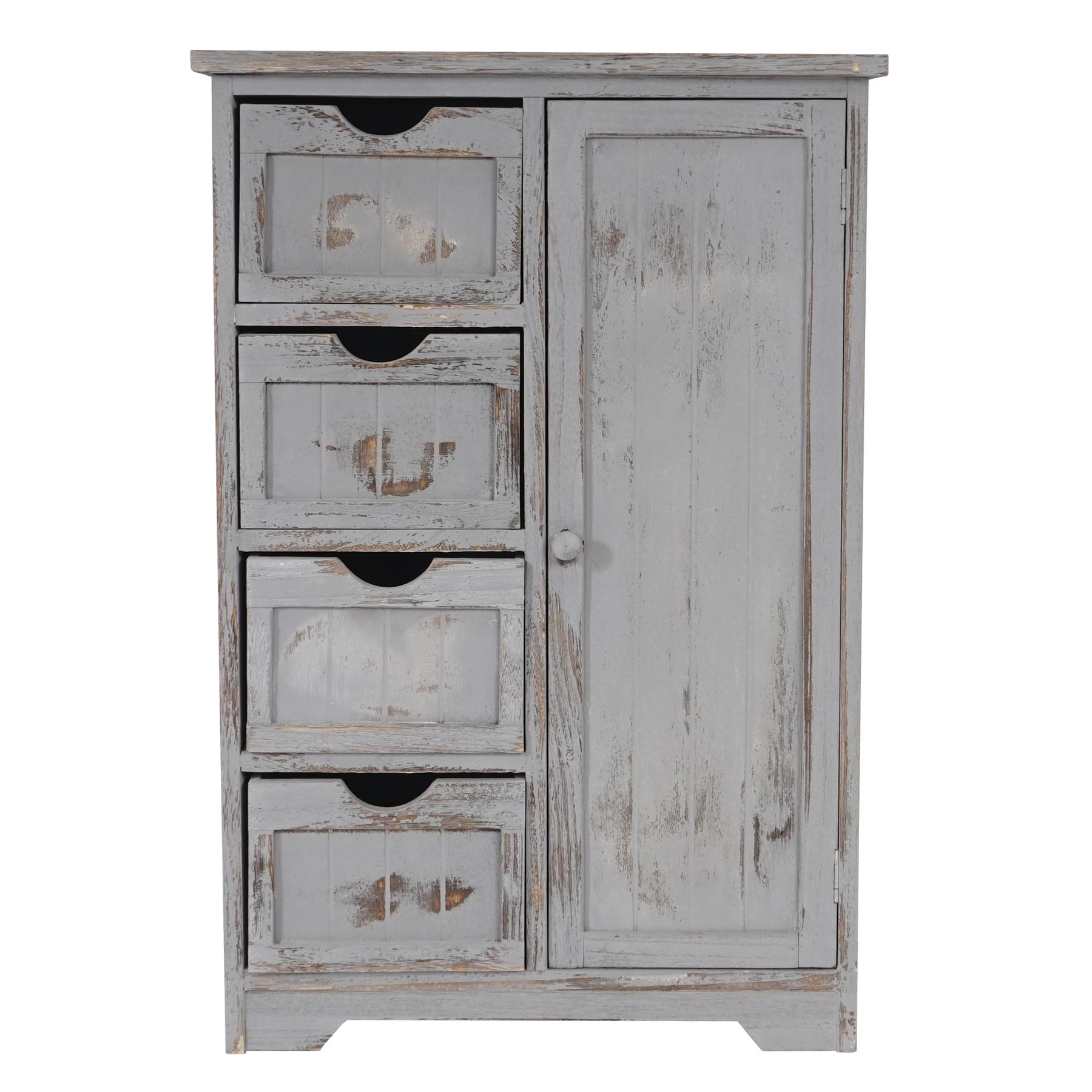 shabby chic kommode 82x55x30cm vintage grau. Black Bedroom Furniture Sets. Home Design Ideas
