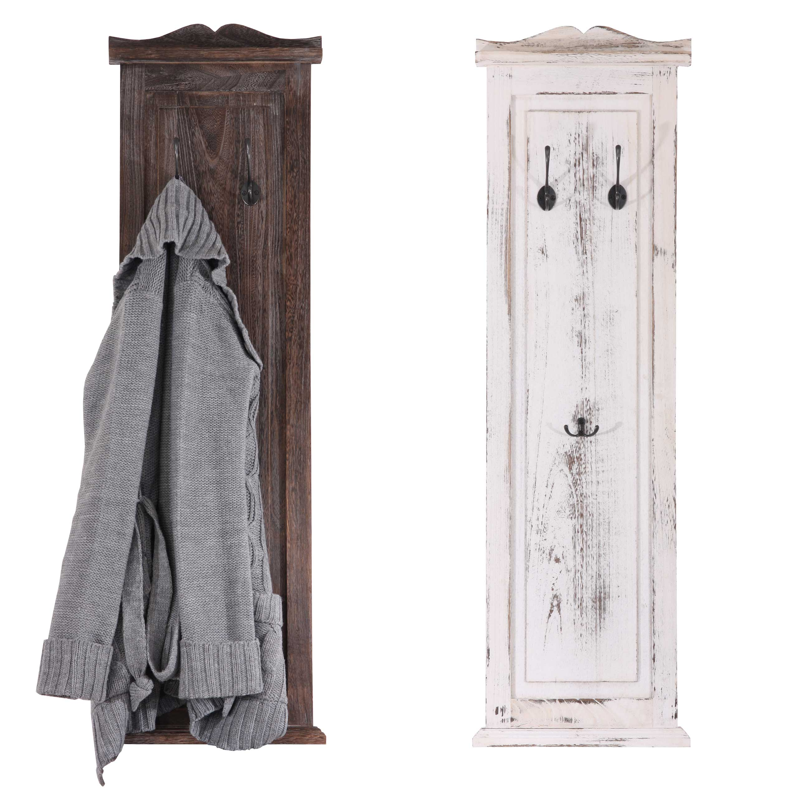 2x wandgarderobe shabby 109cm vintage weiss. Black Bedroom Furniture Sets. Home Design Ideas