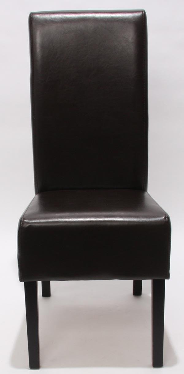 2x esszimmerstuhl latina leder braun dunkle beine. Black Bedroom Furniture Sets. Home Design Ideas