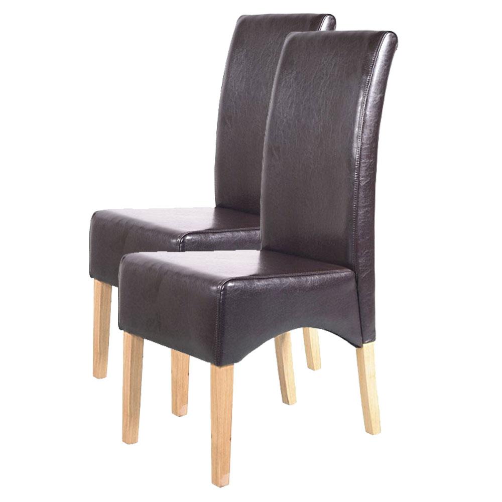 2x esszimmerstuhl lehnstuhl stuhl latina leder braun helle beine. Black Bedroom Furniture Sets. Home Design Ideas