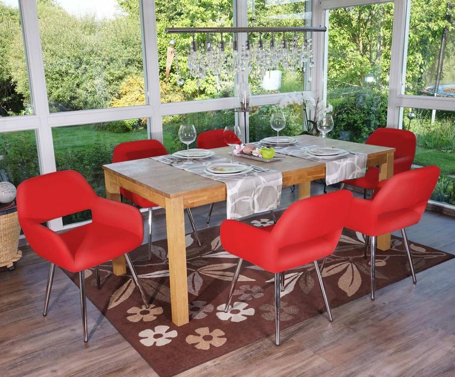 esszimmerstuhl altena retro kunstleder rot. Black Bedroom Furniture Sets. Home Design Ideas
