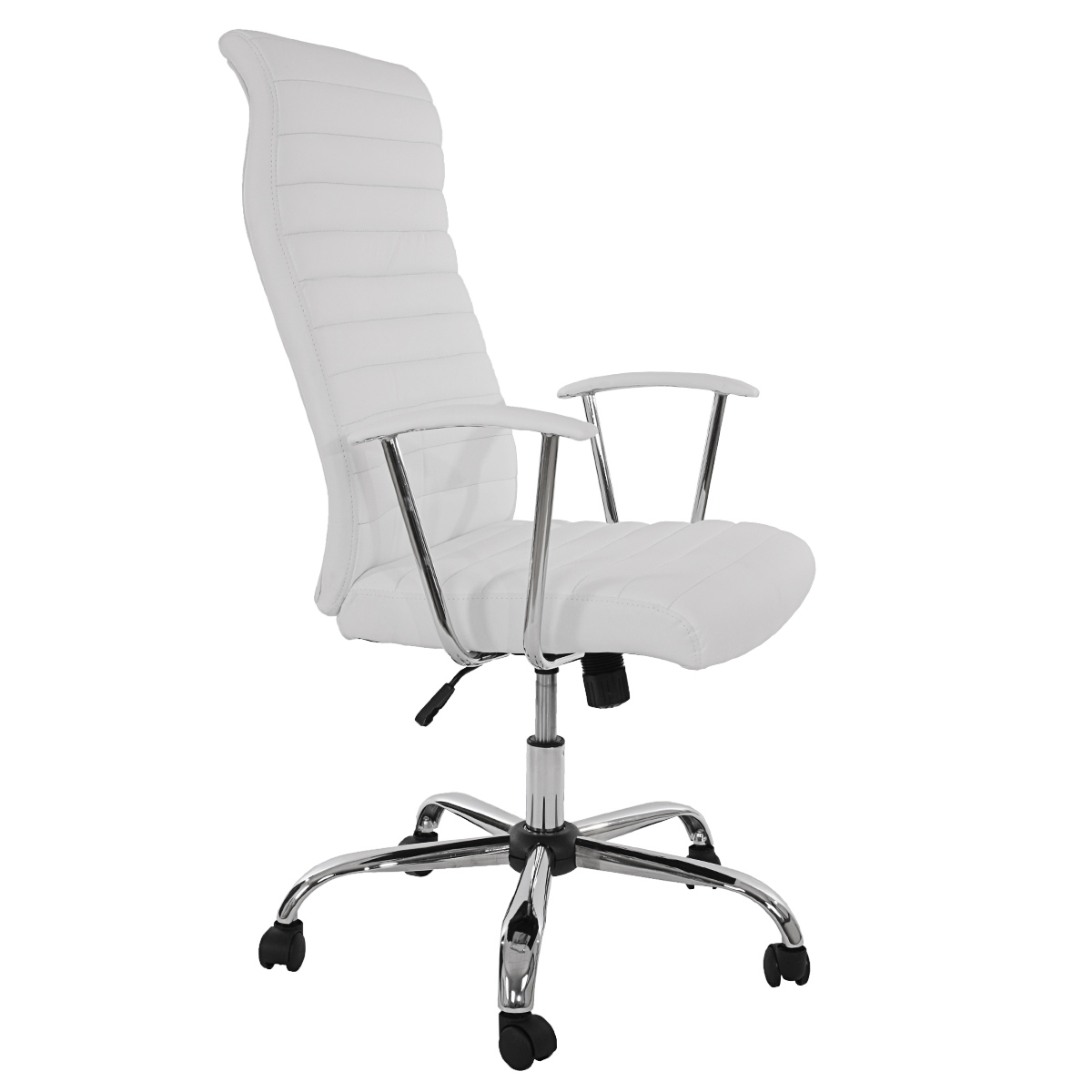 Ergonomischer bürostuhl weiß  Bürostuhl Drehstuhl Chefsessel Cagliari, ergonomische Form ~ weiss ...