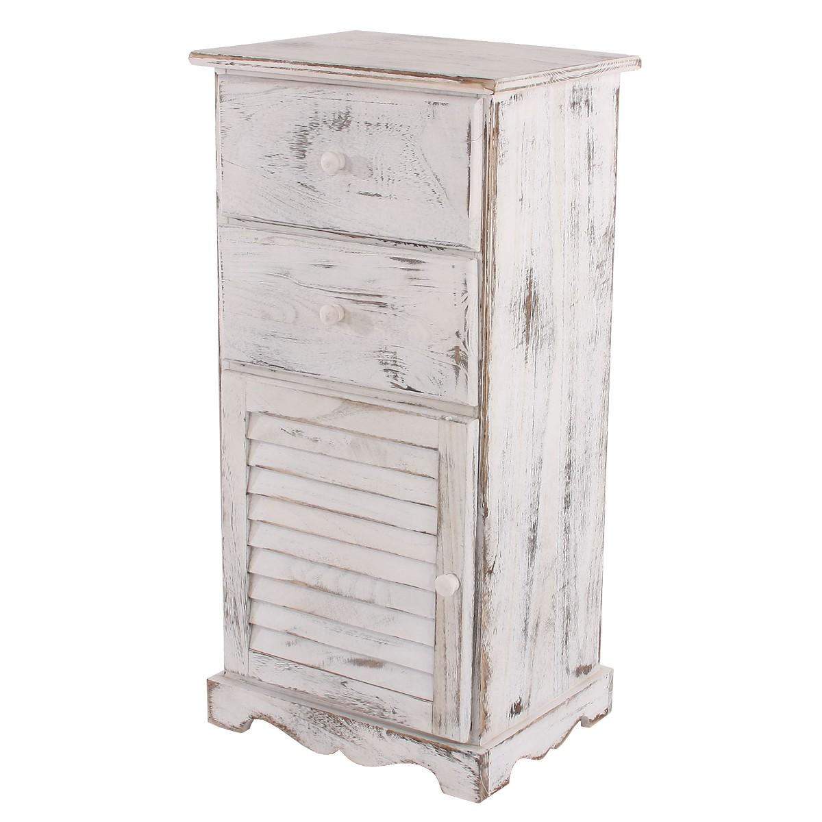 kommode 81x40x32cm shabby look vintage weiss. Black Bedroom Furniture Sets. Home Design Ideas