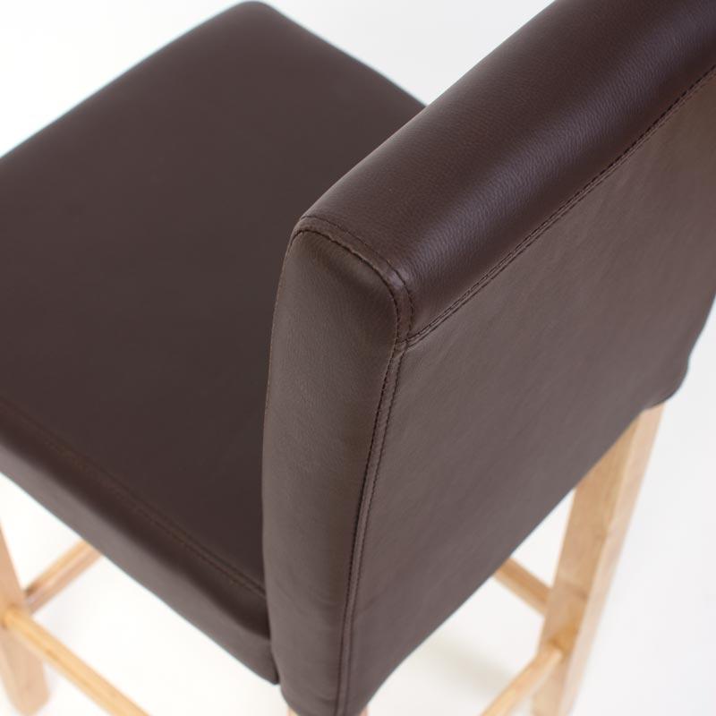 2x barhocker leder braun helle f sse. Black Bedroom Furniture Sets. Home Design Ideas
