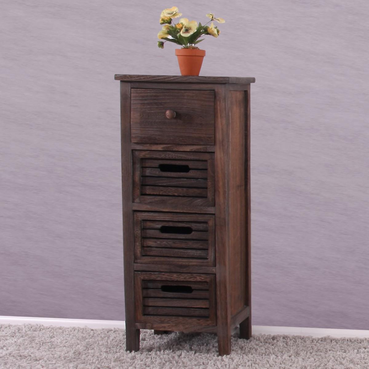 shabby kommode 74x30x25cm vintage braunun. Black Bedroom Furniture Sets. Home Design Ideas