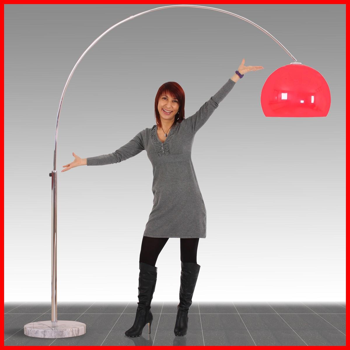 bogenlampe lounge deal h he 2 06m schirm 40cm rot. Black Bedroom Furniture Sets. Home Design Ideas