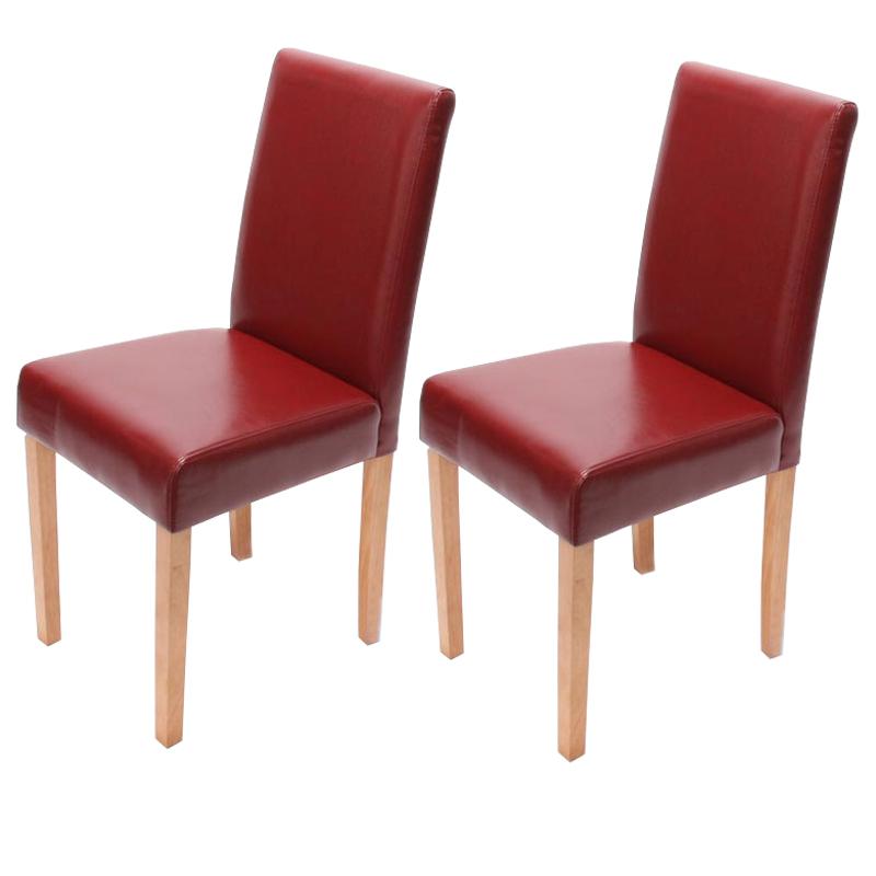 2x esszimmerstuhl littau rot helle beine for Esszimmerstuhl rot