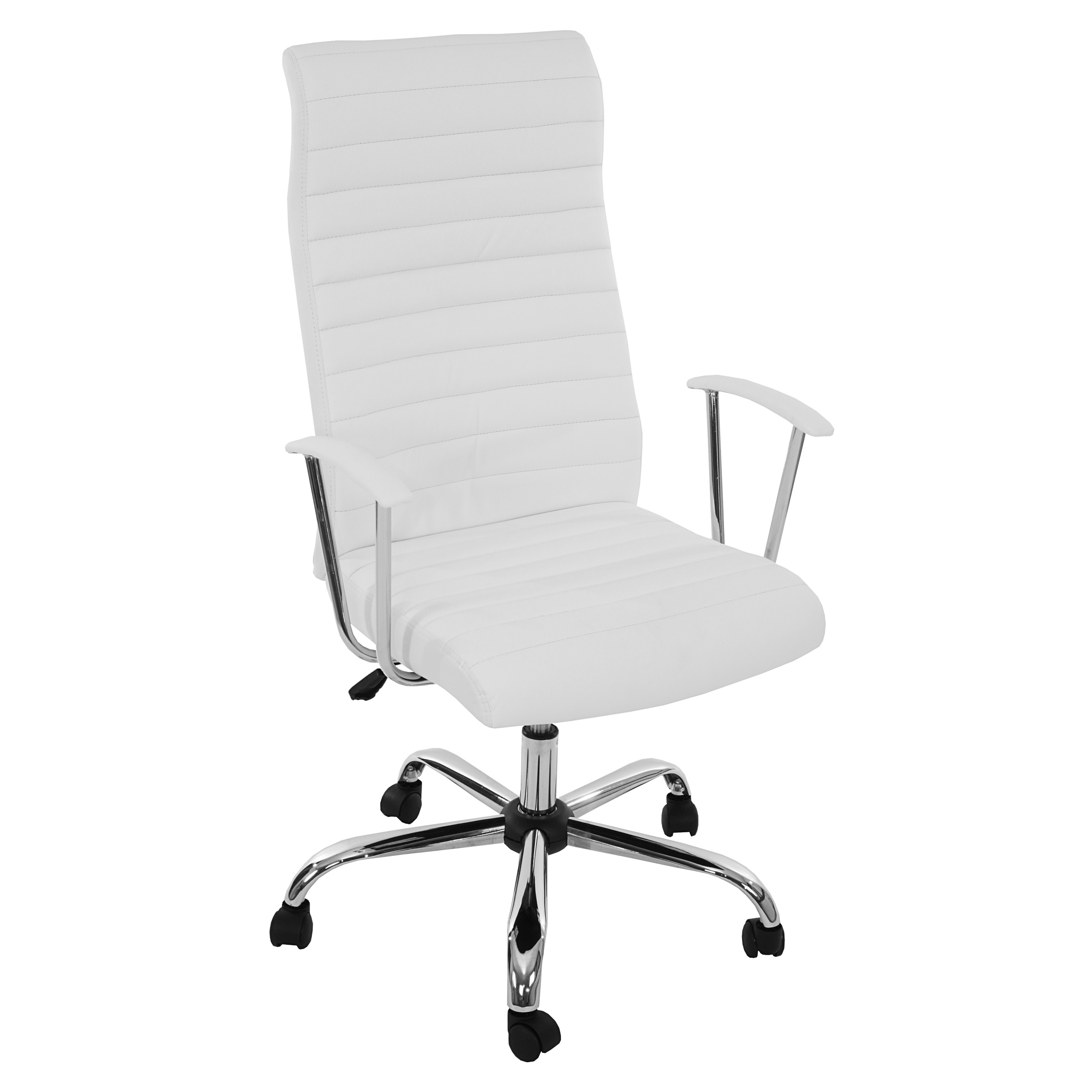 Bürostuhl weiß  Bürostuhl Drehstuhl Chefsessel Cagliari, ergonomische Form ~ weiss ...