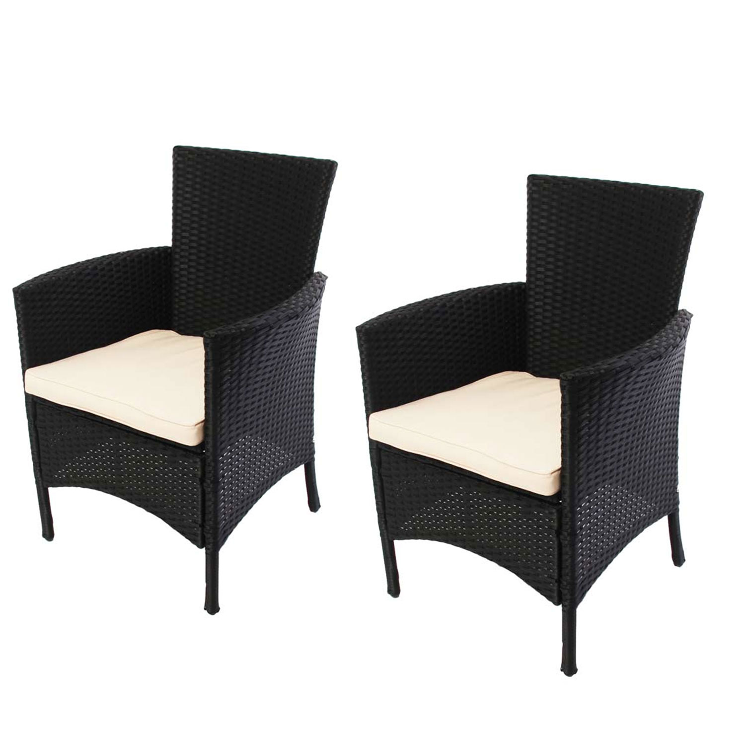 2x rattan gartensessel korbsessel romv anthrazit. Black Bedroom Furniture Sets. Home Design Ideas