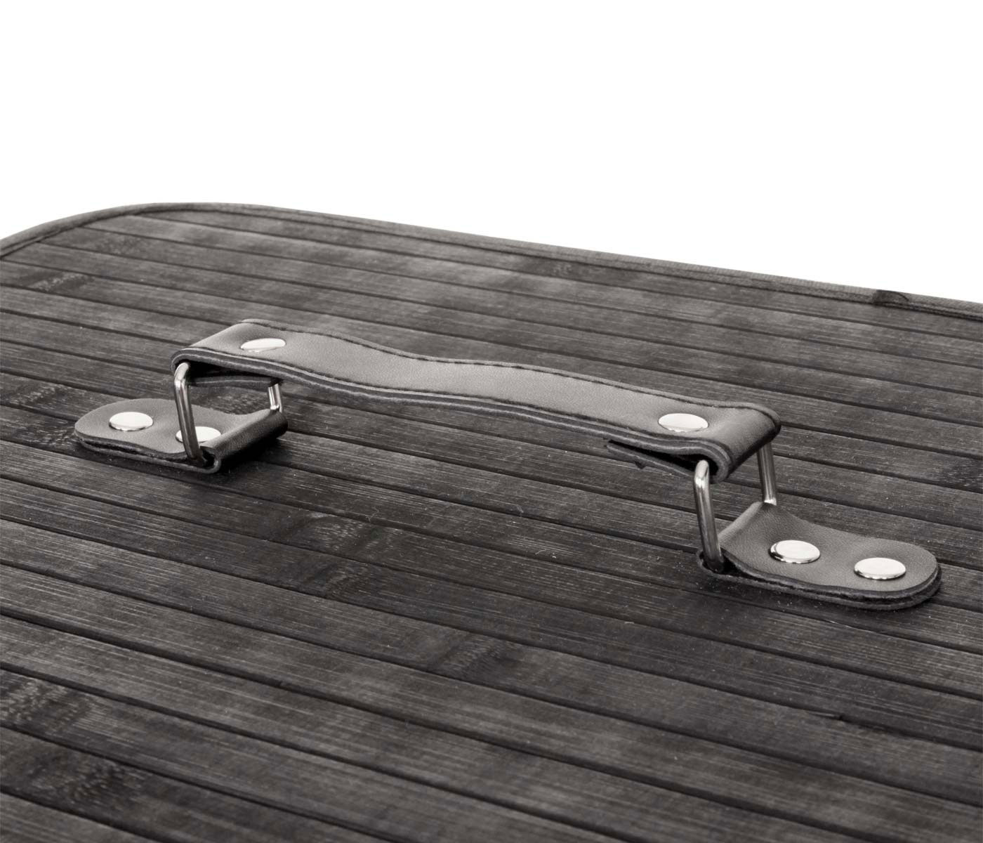 w schekorb laundry bambus 2 f cher schwarz. Black Bedroom Furniture Sets. Home Design Ideas