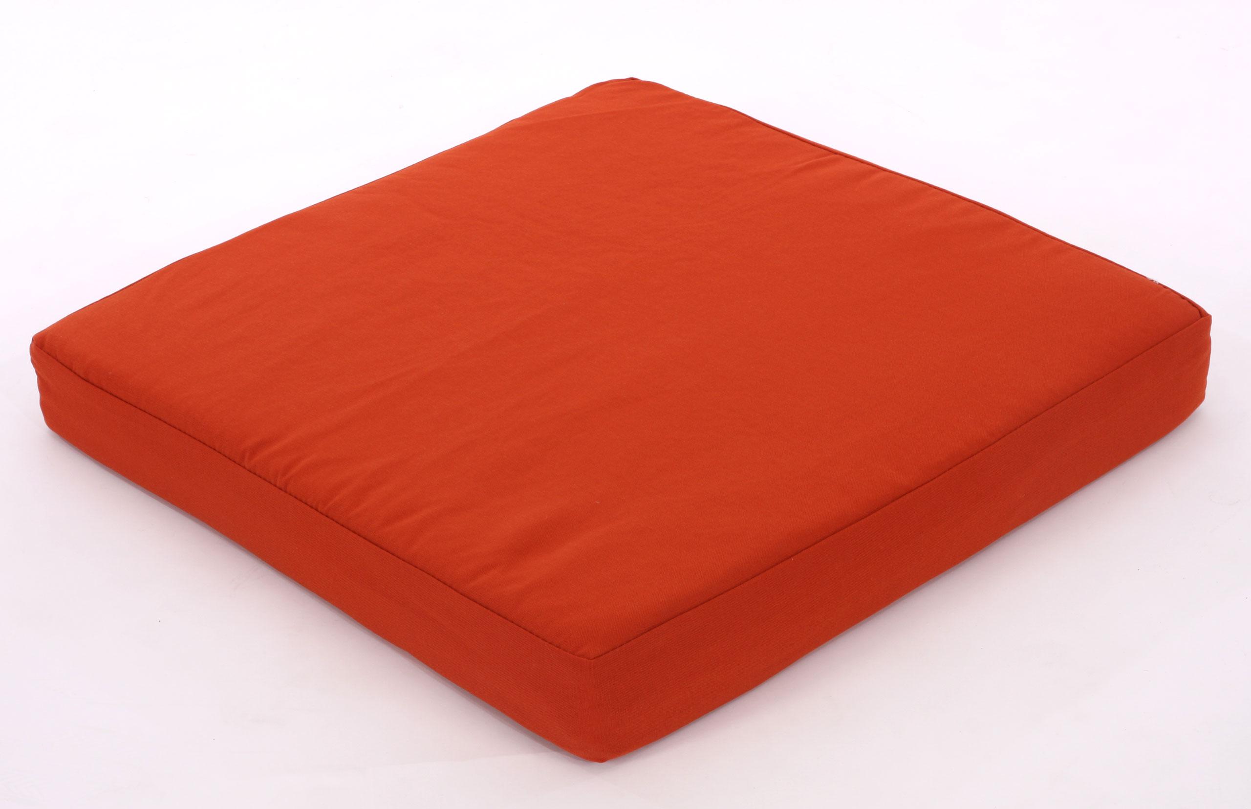 sitzkissen kissen f r gartenstuhl 57 5cm x 57 5cm bordeaux. Black Bedroom Furniture Sets. Home Design Ideas
