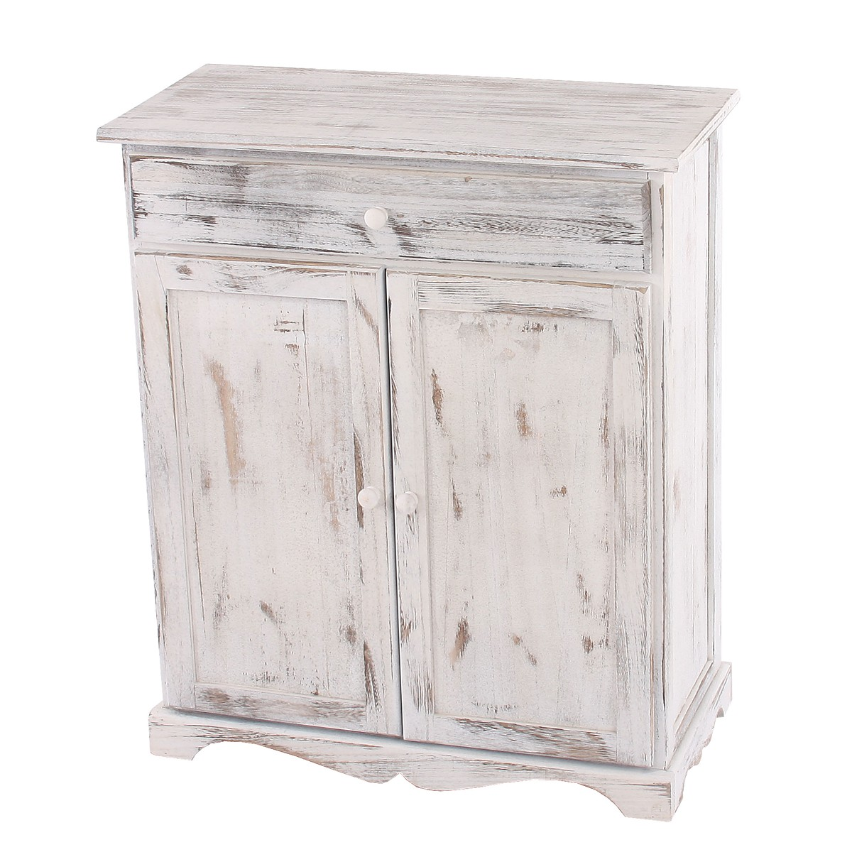 kommode 78x66x33cm shabby look vintage weiss. Black Bedroom Furniture Sets. Home Design Ideas