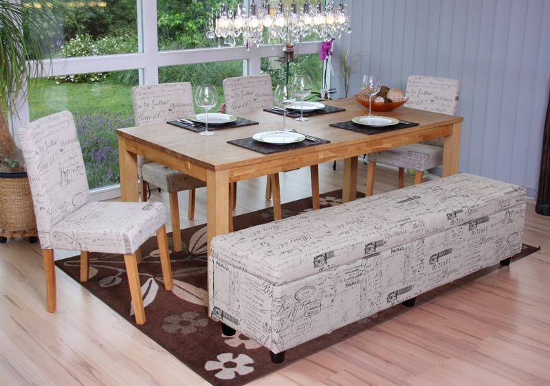 bank mit aufbewahrung kriens xxl leder 180x45x45cm creme. Black Bedroom Furniture Sets. Home Design Ideas