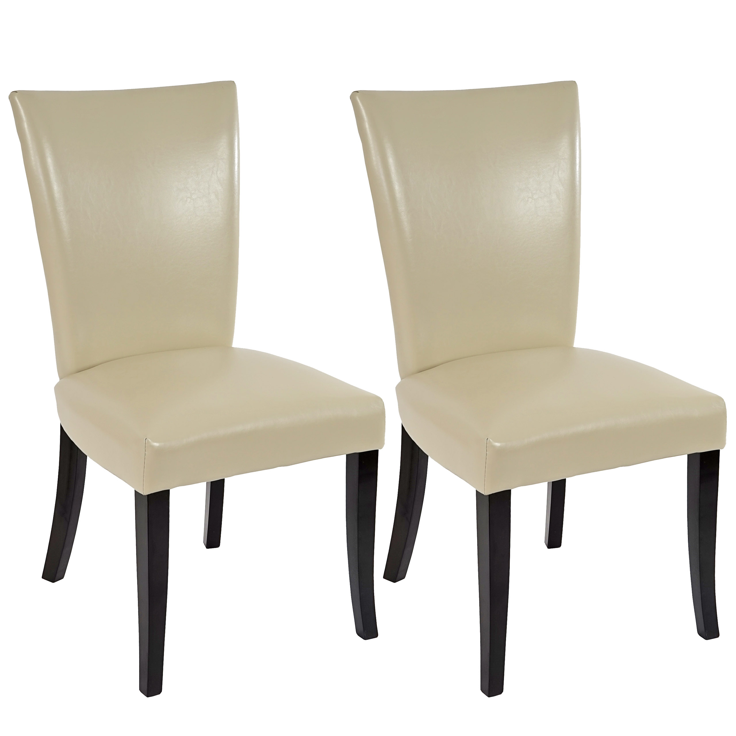 2x Esszimmerstuhl Chesterfield Stuhl Nieten Creme Dunkle