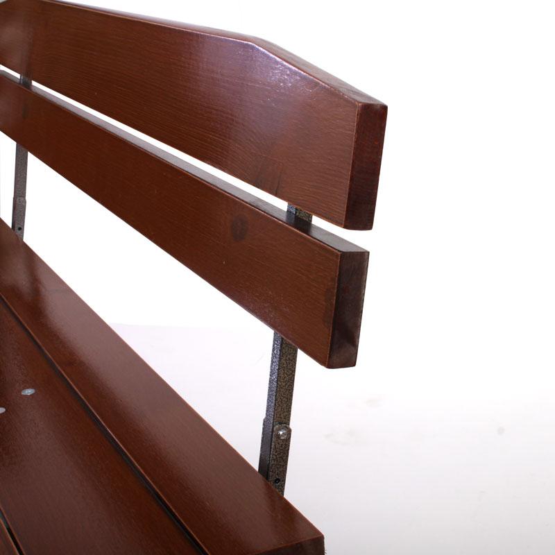 2x bank gartenbank mit lehne linz 150 cm. Black Bedroom Furniture Sets. Home Design Ideas