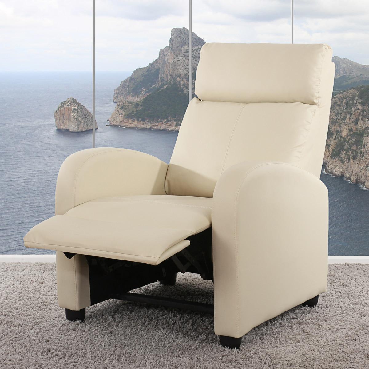 fernsehsessel mit kippfunktion denver creme. Black Bedroom Furniture Sets. Home Design Ideas