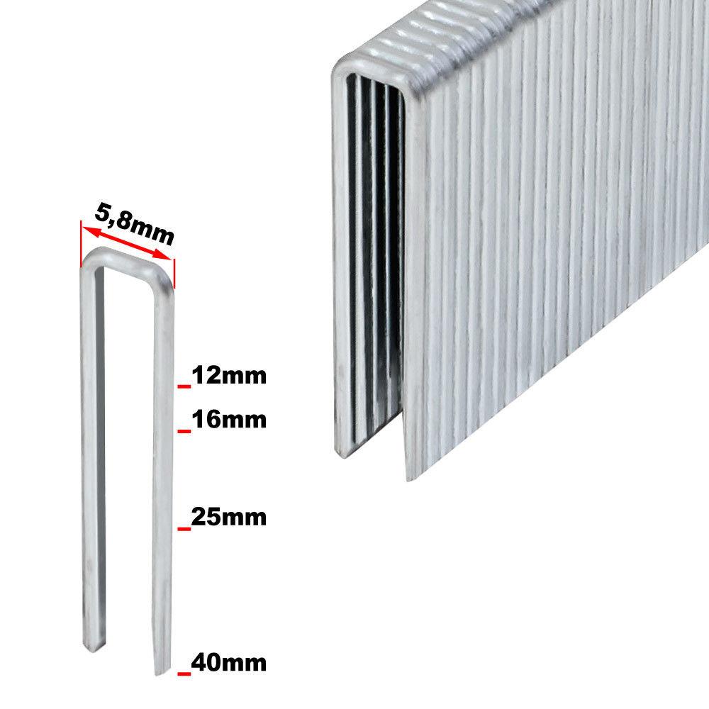 5000 Nägel U-Klammern für Drucklufttacker 25mm