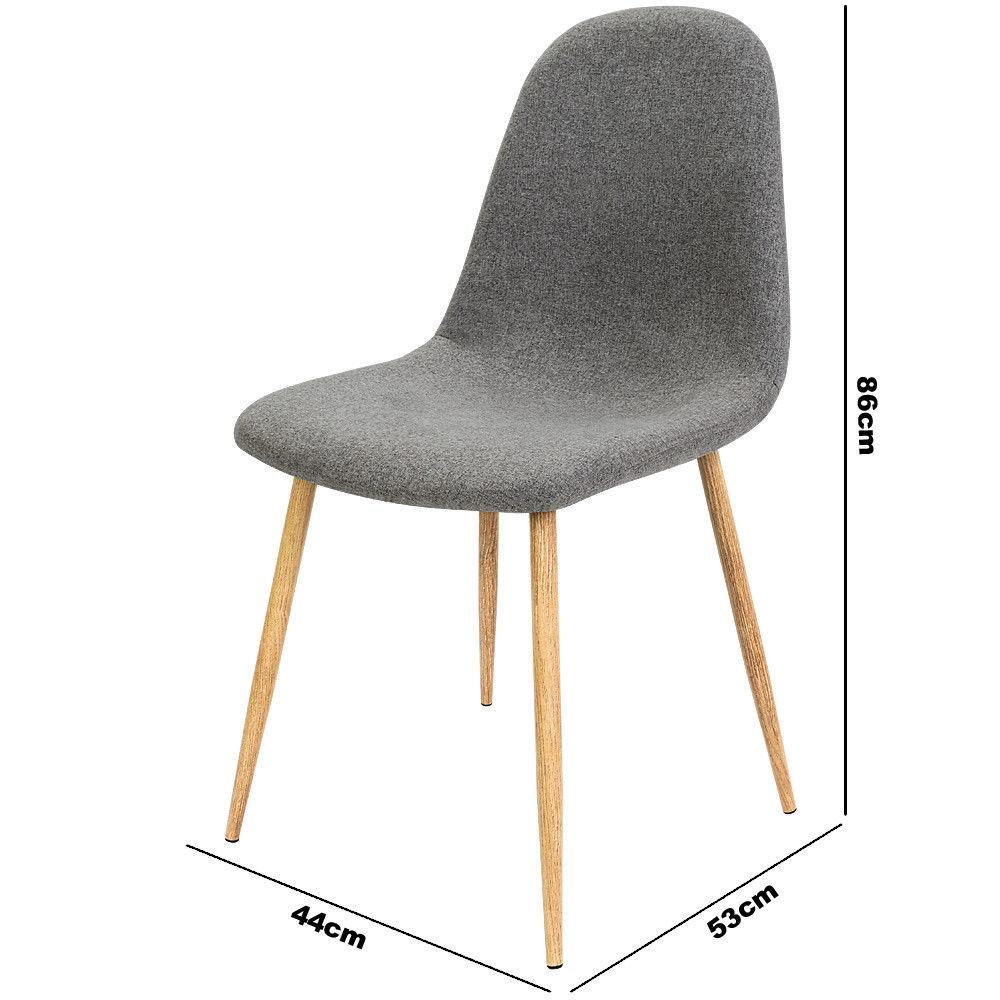 4x esszimmerstuhl mit stoffbezug dunkelgrau. Black Bedroom Furniture Sets. Home Design Ideas