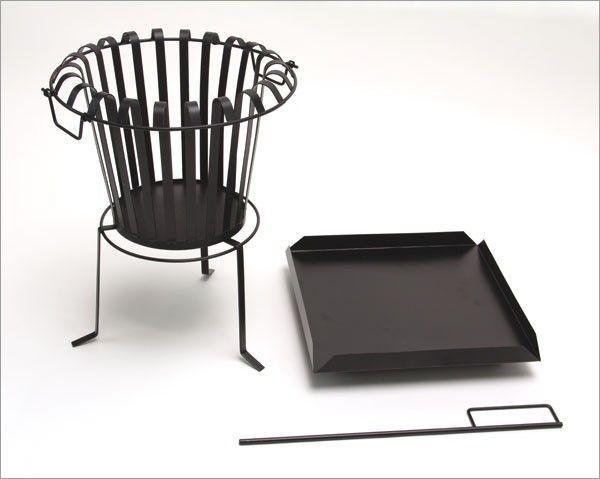 feuerkorb feuerschale mit bodenplatte sch rhaken. Black Bedroom Furniture Sets. Home Design Ideas