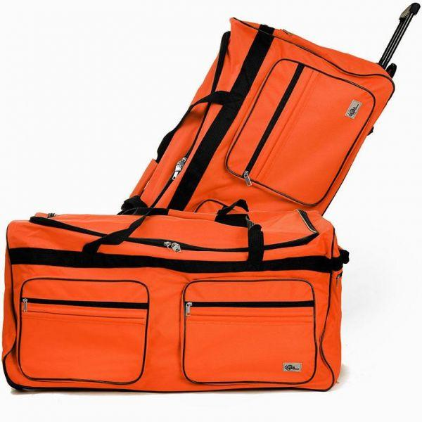 reisetasche mit trolleyfunktion 85l orange h ngeschloss. Black Bedroom Furniture Sets. Home Design Ideas