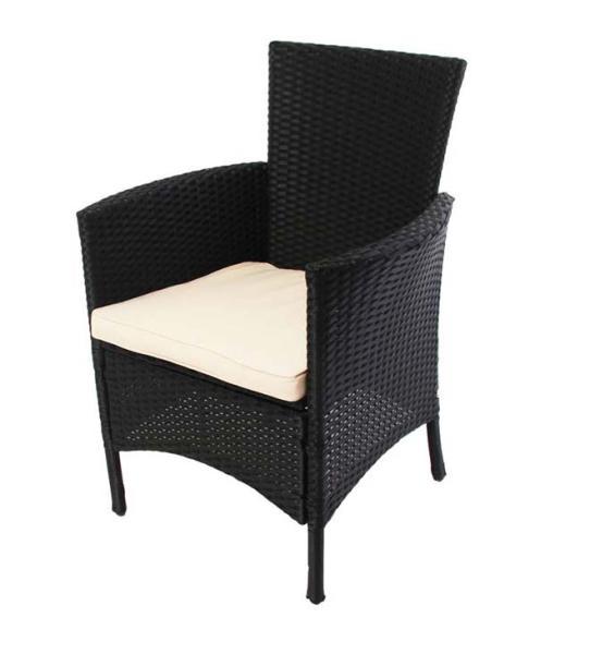 2x rattan gartensessel korbsessel romv anthrazit. Black Bedroom Furniture Sets. Home Design Ideas
